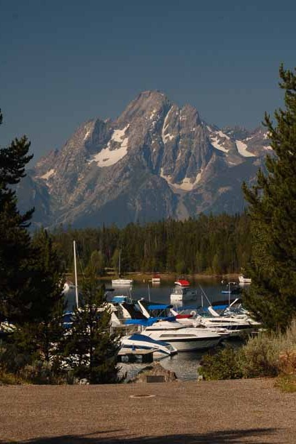 Mt. Moran towers over Colter Bay