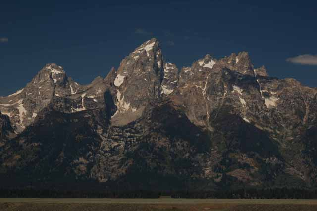 The Tetons closeup