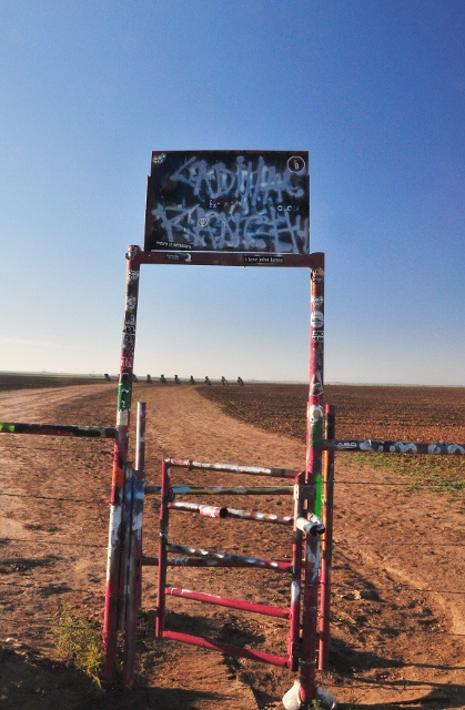 Cadillac Ranch, the only sign