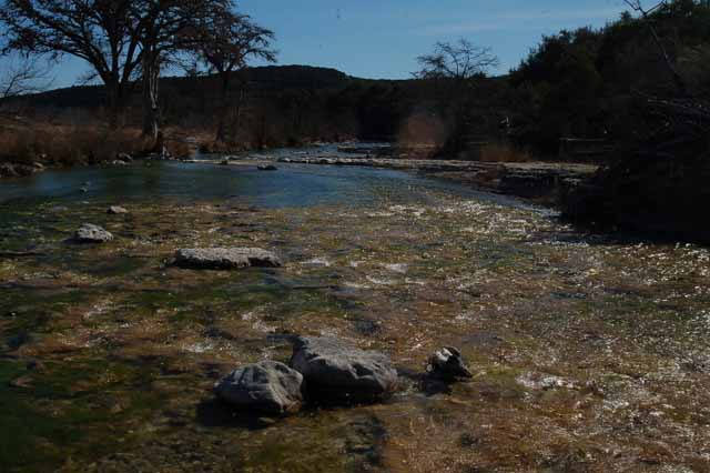 the Frio River near Concan