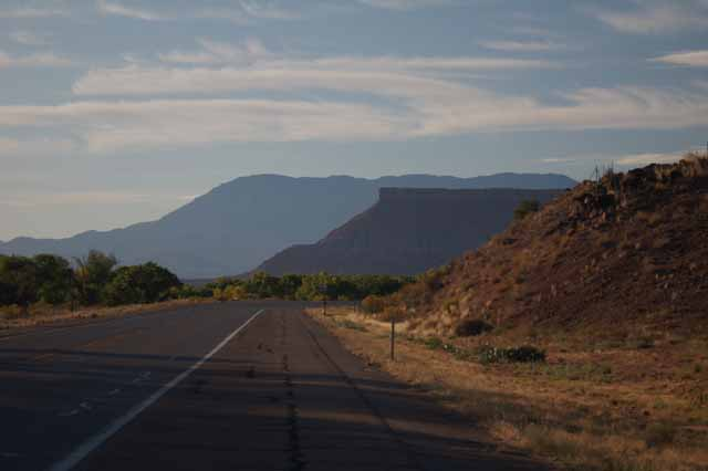 Highway 9 West leaving Zion